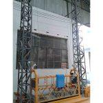 10 मीटर संचालित एल्यूमीनियम रस्सी निलंबित मंच zlp1000 एकल चरण 2 * 2.2 किलोवाट
