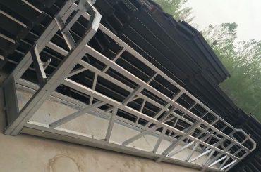 zlp630 / 800 एल्यूमीनियम मिश्र धातु आकार, इस्पात निर्माण खिड़कियों पर काम मंच मंच लिफ्ट निलंबित कर दिया जाएगा