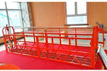 स्टील निलंबित एक्सेस प्लेटफार्म 7.5 मीटर 1.8 किलोवाट 800 किलो बिल्डिंग रखरखाव