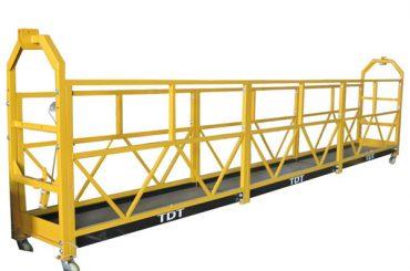 स्टील / गर्म गैल्वेनाइज्ड / एल्यूमीनियम मिश्र धातु रस्सी निलंबित मंच 1.5 किलोवाट 380v 50hz