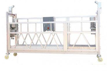 बिल्डिंग फेकाडे पेंटिंग के लिए स्टील पेंटेड हॉट जस्तीकृत एल्यूमिनियम जेएलपी 630 निलंबित वर्किंग प्लेटफार्म