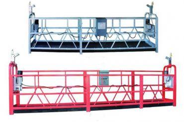 प्लास्टिक स्प्रे पेंट के साथ zlp 630 रस्सी निलंबित मंच हवाई कार्य स्विंग मंच मचान