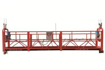 स्टील / गर्म गैल्वेनाइज्ड अस्थायी निलंबित मंच, zlp500 रखरखाव पालना