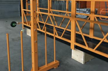 एकल चरण निलंबित तार रस्सी मंच 800 किलो 1.8 किलोवाट, उठाने की गति 8 -10 मीटर / मिनट
