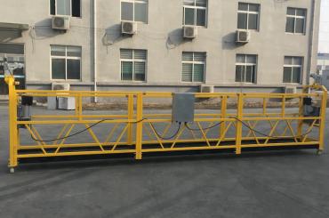 निर्माण के लिए सी प्रमाणित zlp630 एल्यूमीनियम बिजली लटकना गोंडोला