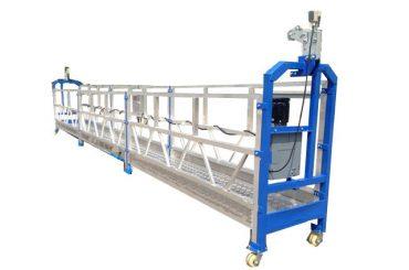 500 किलो 2 मीटर * 2 खंड एल्यूमीनियम मिश्र धातु निलंबित एक्सेस उपकरण zlp500