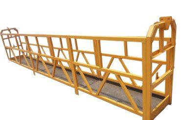 रस्सी फांसी निलंबित पहुंच मंच, zlp630 निर्माण लिफ्ट गोंडोला मशीन